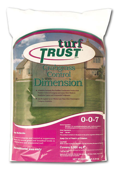 Turf Trust Brand Crabgrass Control with Dimension