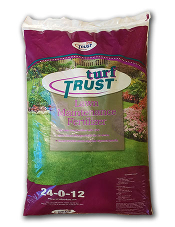 new turf trust lawn maintenance fertilizer bag